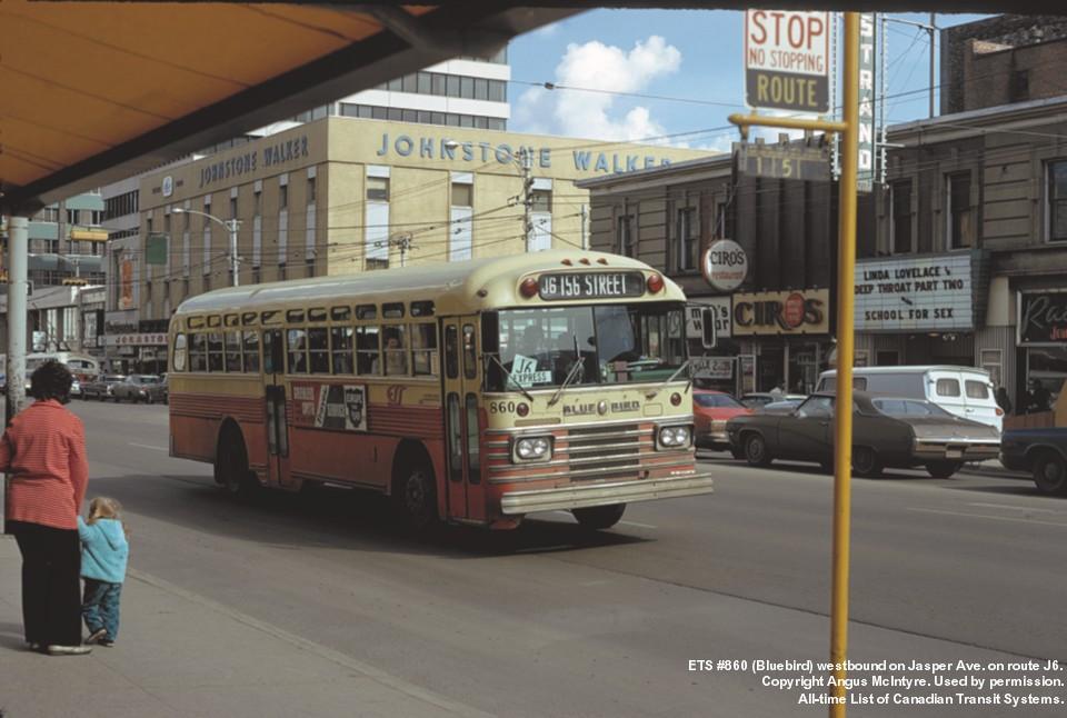 Edmonton ETS #860 bluebird