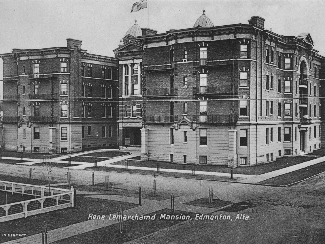 View of the Rene Lemarchand Mansion in Edmonton, Alberta., circa 1913. Provincial Archives of Alberta, A2501