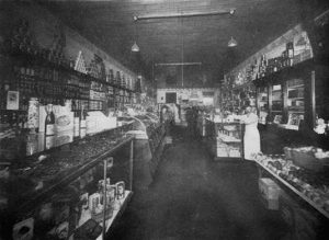 Gilbert Berg Grocery Interior. Image courtesy of the City of Edmonton Archives EB-26-168.