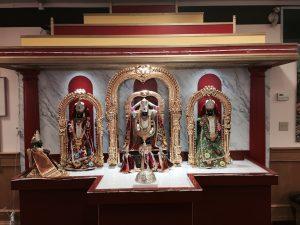 Interior, Hindu Society of Alberta. Photo by Umar Akbar.
