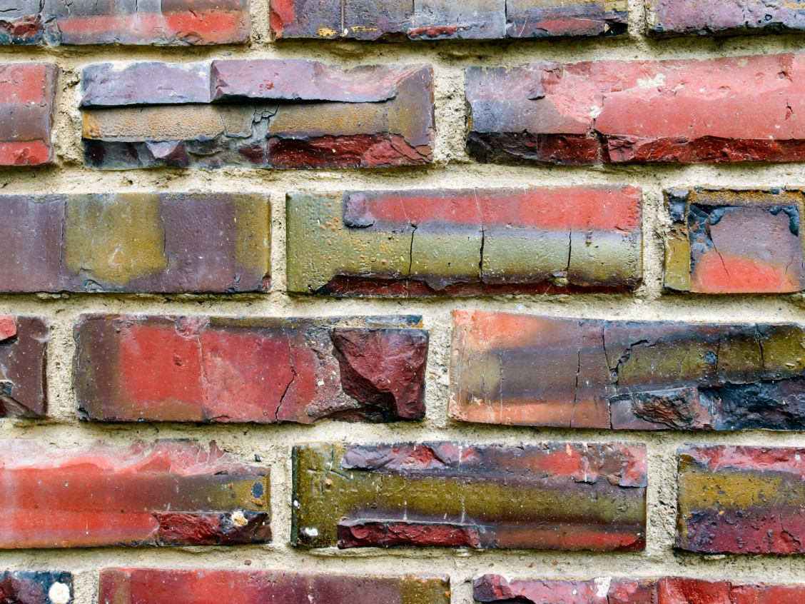 Brick detail, Glenora School, 2006. Photo by Lawrence Herzog.