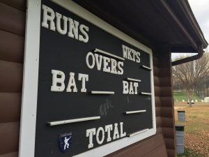 Cricket scoreboard at Victoria Park. Photo by Umar Akbar.