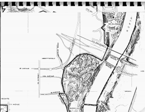 Map of Rundle Park Site on former Beverly Dump grounds. Image courtesy of the City of Edmonton Archives, G.P. 662 1978 Sept. C.2 Map 8.