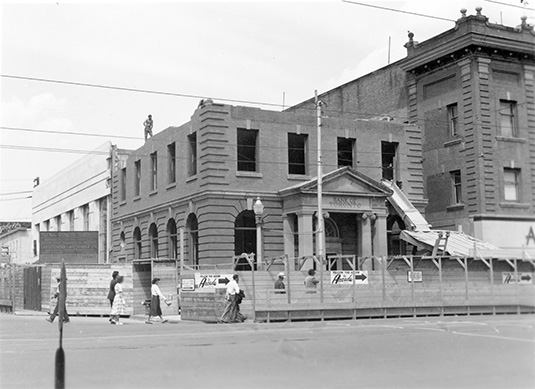 Bank of Toronto demolition, 1950. City of Edmonton Archives, EA-10-662