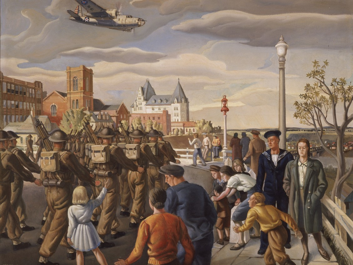 Henry George Glyde Edmonton, 1943 Oil on canvas 82.2 x 106 cm Art Gallery of Alberta Collection, gift of the Artist, 1943. 43.1