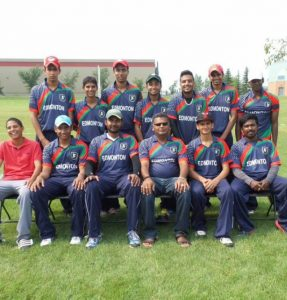 Cricket team at Victoria Park. Photo by Umar Akbar.