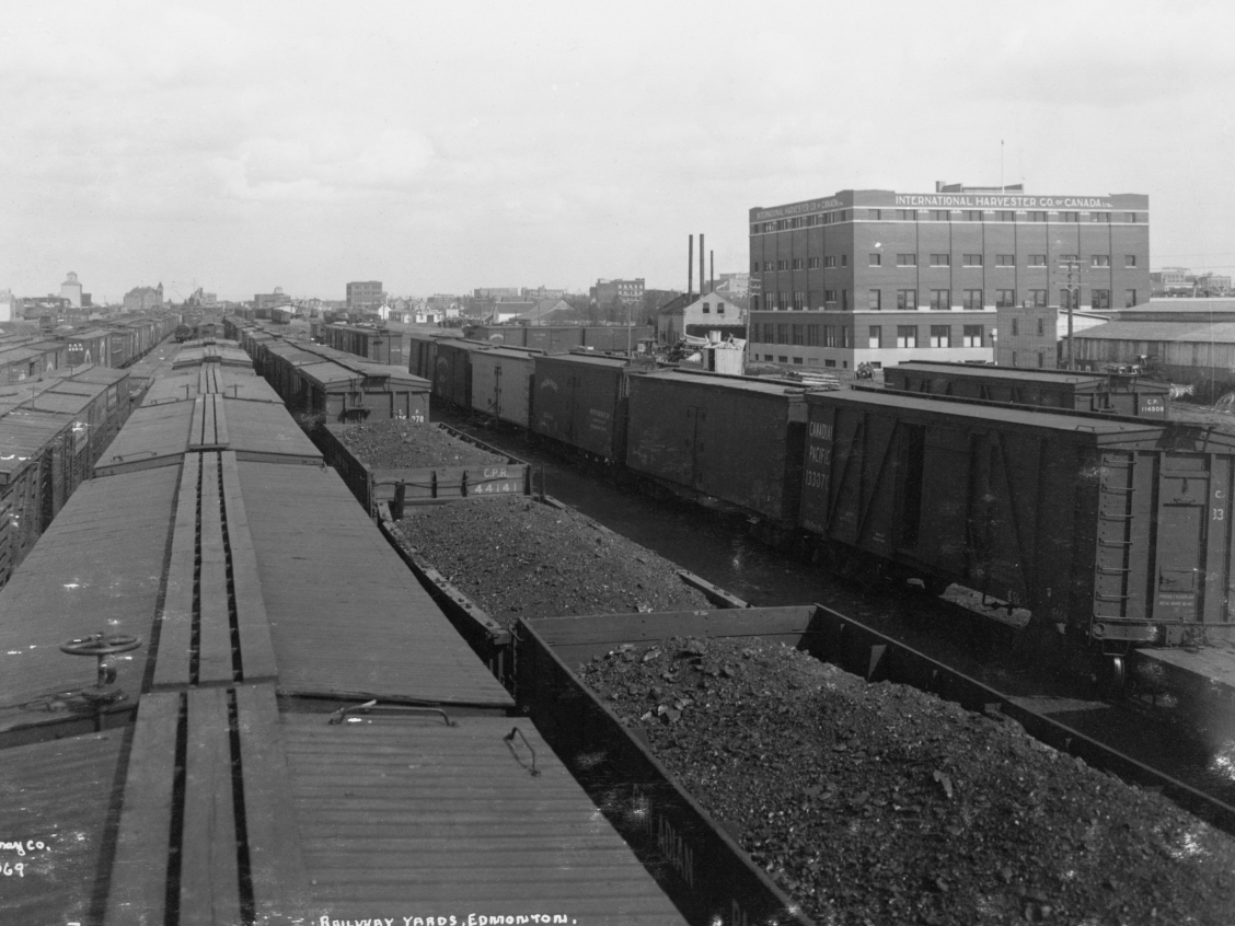 Canadian Northern Railway yards, 1912. Glenbow Archives, NA-1328-64369.