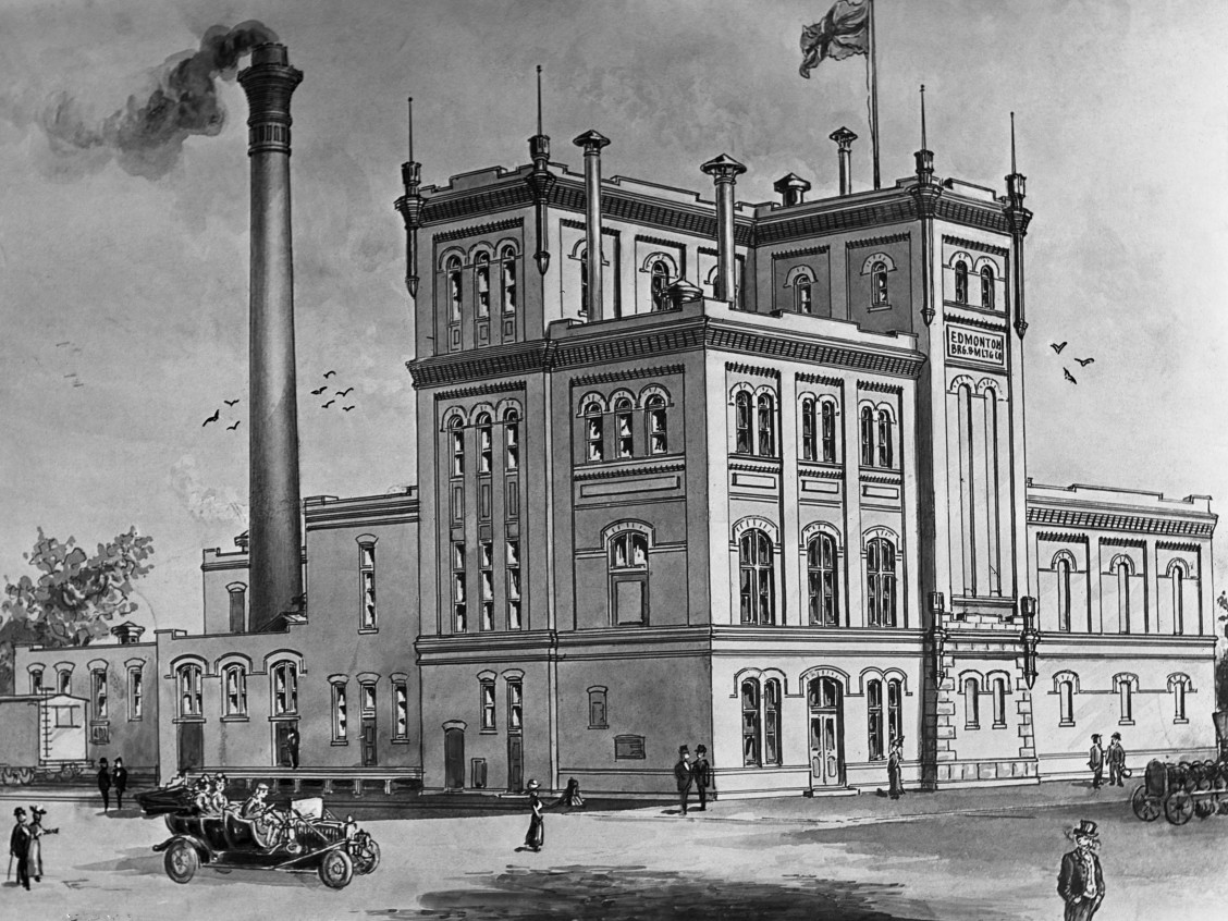 Drawing of Edmonton Brewing and Malting Company, Edmonton, 1912. Glenbow Archives, NC-6-362